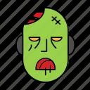 death, evil, halloween, head, zombie icon