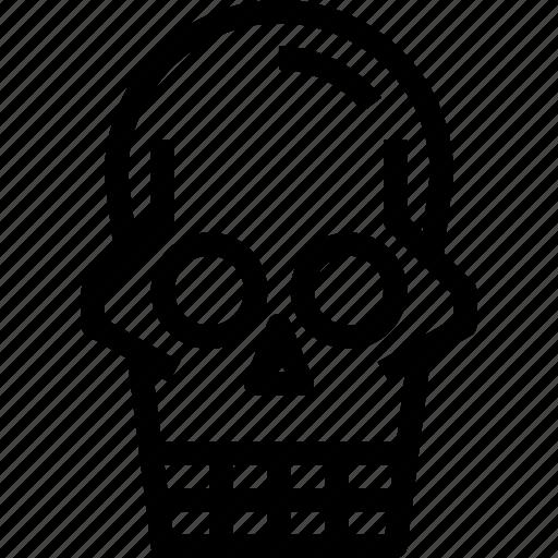 death, halloween, scary, skull icon