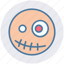 dreadful, fearful, halloween mummy, horrible, mummy head, scary icon