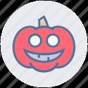 dreadful, fearful, halloween pumpkin, horrible, pumpkin, scary icon