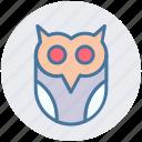 dreadful, fearful, halloween owl, horrible, scary