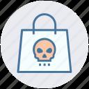 candy, danger, halloween, hand bag, spook, treat bag