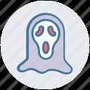 dreadful, fearful, halloween scream mask, halloween werewolf, horrible, scary icon
