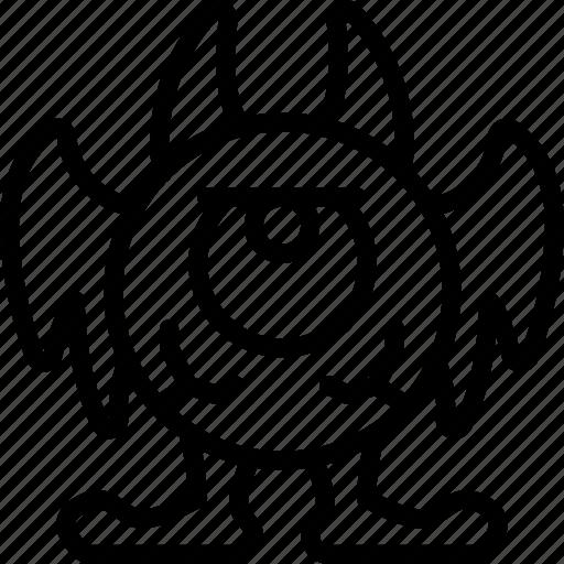 Creepy Eye Monster Scary Spooky Icon