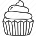 cake, dessert, halloween, cupcake