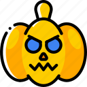 creepy, halloween, jack'o'lantern, pumpkin, scary, spooky icon