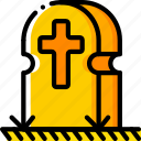 creepy, death, gravestone, graveyard, scary, spooky icon