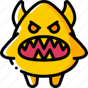 angry evil, creepy, devil, scary, spooky icon