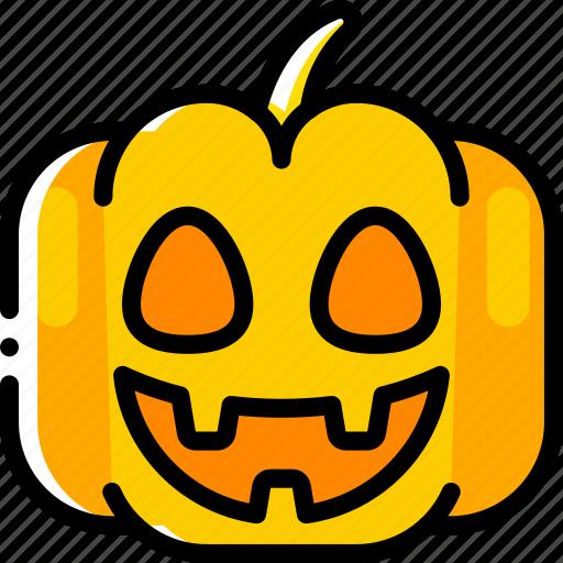 creepy, halloween, happy, jack'o'lantern, pumpkin, smile, spooky icon