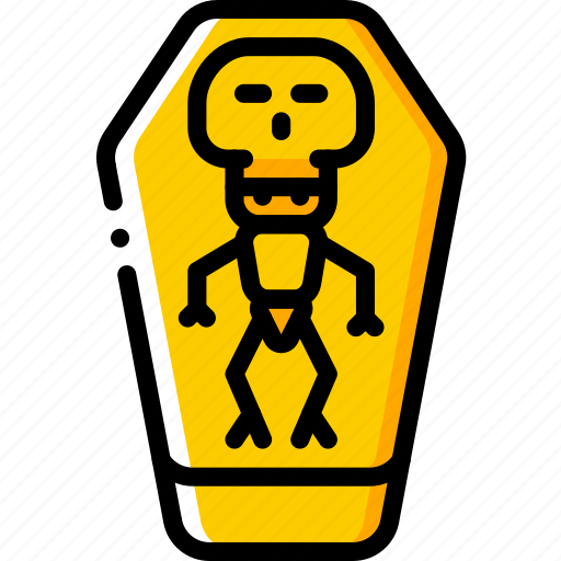Coffin, creepy, dead, scary, skeleton, tomb icon - Download on Iconfinder