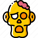 brain, creepy, dead, evil, scary, zombie icon