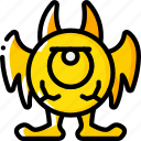 creepy, eye, monster, scary, spooky icon