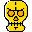 creepy, dead, scary, skeleton, skull, spooky icon