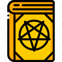 book, creepy, curse, evil, pentagram, spells icon