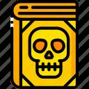 book, curse, dead, evil, skull, spells icon