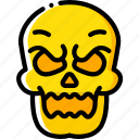 bones, creepy, evil, scary, skeleton, skull icon