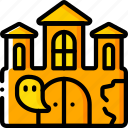 ghost, haunted, house, mansion, spooky icon