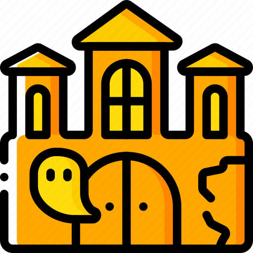 Ghost, haunted, house, mansion, spooky icon - Download on Iconfinder