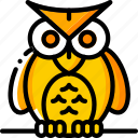 creepy, haunted, hoot, ominous, owl, spooky icon