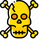 crossbones, evil, pirate, skeleton, skull icon
