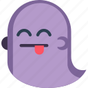 creepy, ghost, happy, scary, silly, spooky, tongue icon