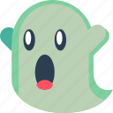 boo, creepy, ghost, scary, silly, spooky icon
