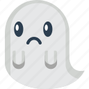 creepy, frown, ghost, halloween, sad, scary, spooky icon