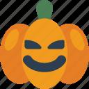 creepy, evil, halloween, jack'o'lantern, pumpkin, spooky icon