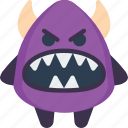 angry, angry evil, creepy, devil, scary, spooky icon