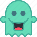 creepy, ghost, happy, scary, silly, smile, spooky icon