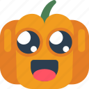 cute, fun, halloween, pumpkin, silly, spooky icon