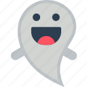 creepy, dead, ghost, happy, silly, spooky icon