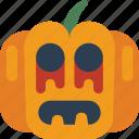 creepy, halloween, jack'o'lantern, pumpkin, scary, spooky icon