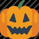 halloween, jack'o'lantern, pumpkin, smile, spooky