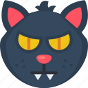 black cat, cat, haunted, scary, spell, witch icon