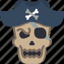 bones, costume, creepy, dead, pirate, scary, skull icon