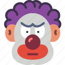 clown, creepy, evil, halloween, it, scary icon