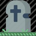 creepy, death, gravestone, graveyard, scary, spooky icon