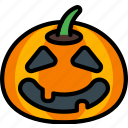 creepy, halloween, happy, jack'o'lantern, pumpkin, spooky icon