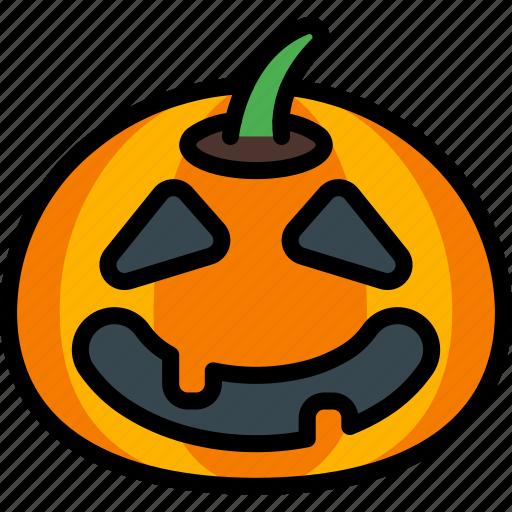 Creepy, halloween, happy, jack'o'lantern, pumpkin, spooky icon - Download on Iconfinder