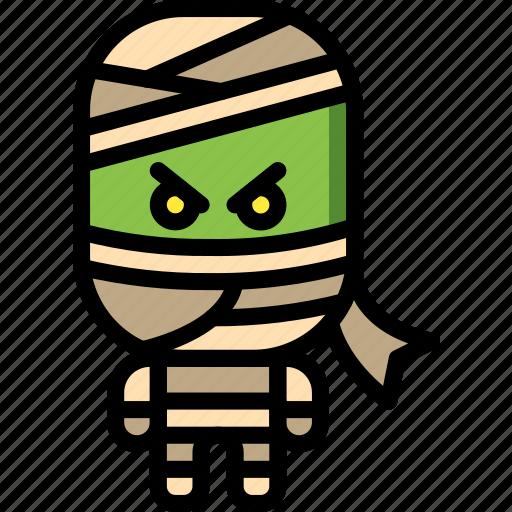 creepy, dead, egyptian, mummy, scary, zombie icon