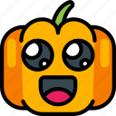 cute, spooky, halloween, silly, fun, pumpkin icon