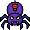 creepy, evil, scary, spider, venom, web