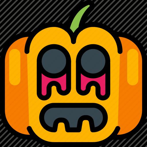 Creepy, halloween, jack'o'lantern, pumpkin, scary, spooky icon - Download on Iconfinder