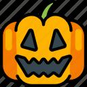 halloween, jack'o'lantern, pumpkin, smile, spooky icon