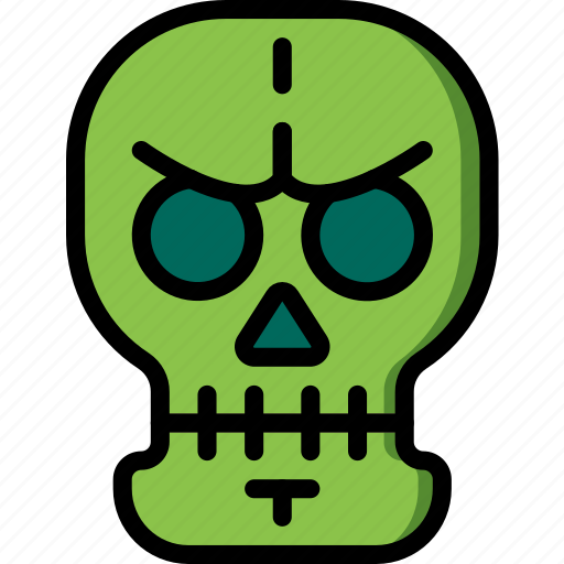 Creepy, dead, scary, skeleton, skull, spooky icon - Download on Iconfinder
