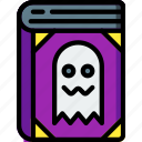 book, curse, dead, ghost, spells, spooky icon