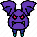 angry, animal, bat, creepy, night, scary, vampire icon