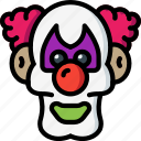 clown, creepy, evil, halloween, it, scary icon