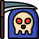 cute, death, scary, spooky, killer, reaper, grim icon